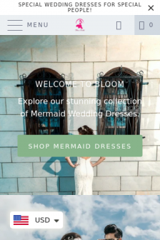Mobile screenshot of bloombridal.co.nz