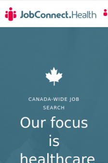 Mobile screenshot of jobconnect.health