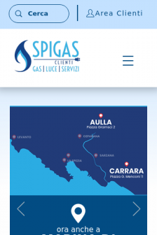 Mobile screenshot of www.spigasclienti.it