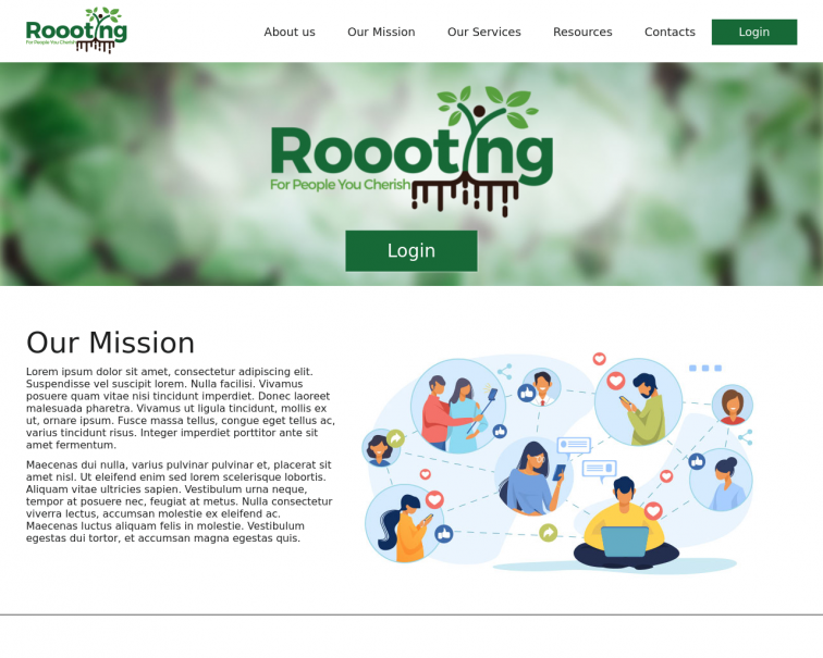 Screenshot of roooting.softwaresolutions.website