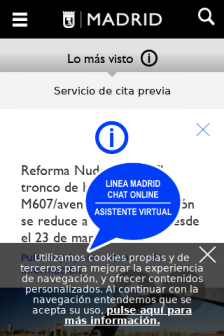 Mobile screenshot of www.madrid.es