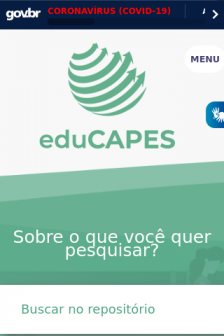 Mobile screenshot of educapes.capes.gov.br