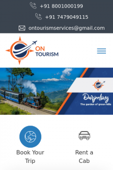 Mobile screenshot of www.ontourism.in