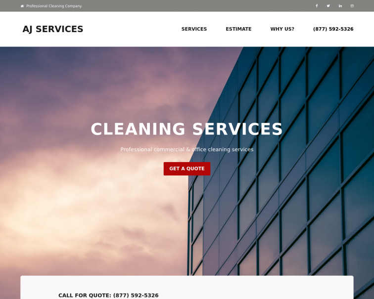 Screenshot of www.ajservices.us
