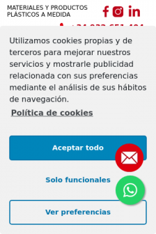 Mobile screenshot of plasticexpress.es