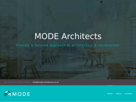 Tablet screenshot of www.mode-architects.co.uk