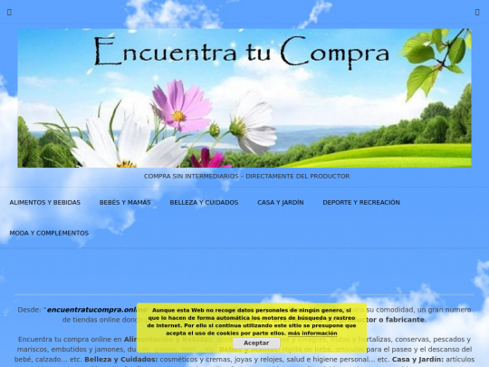 Tablet screenshot of encuentratucompra.online