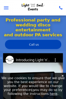 Mobile screenshot of www.lightnsoul.co.uk