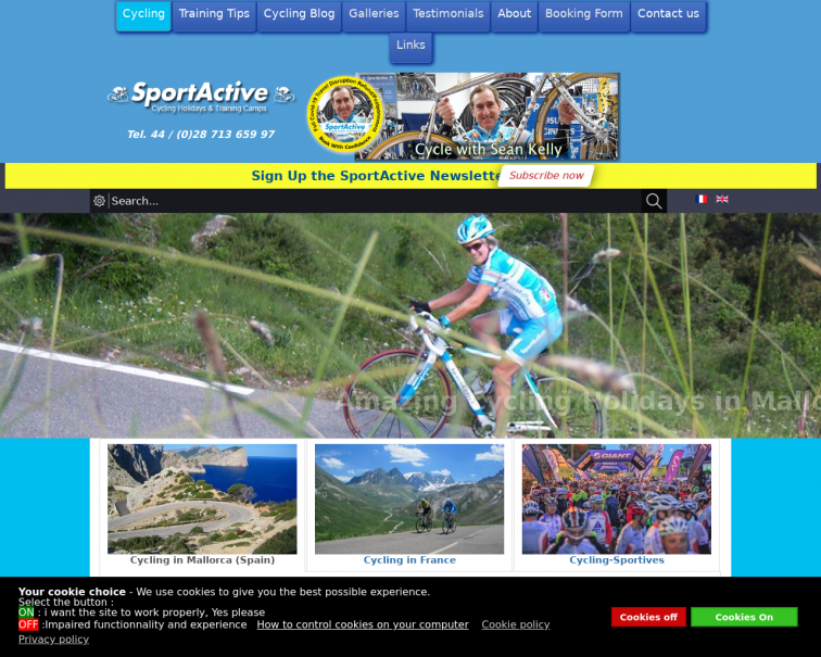 Screenshot of sportactive.net