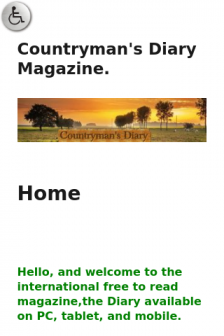 Mobile screenshot of countrymans-diary.co.uk
