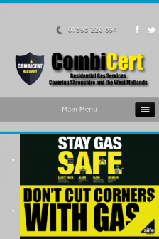 Mobile screenshot of www.combicert.co.uk