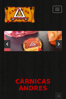 Mobile screenshot of www.carnicas-andres.es