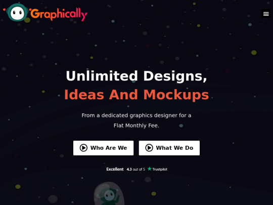 Tablet screenshot of graphically.io