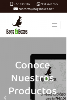 Mobile screenshot of www.bagsboxes.net