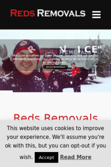 Mobile screenshot of www.reds-removals.co.uk