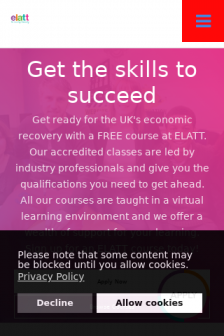 Mobile screenshot of www.elatt.org.uk