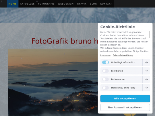 Tablet screenshot of www.fotografik.at