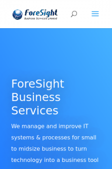 Mobile screenshot of www.foresightbusinessservices.co.uk