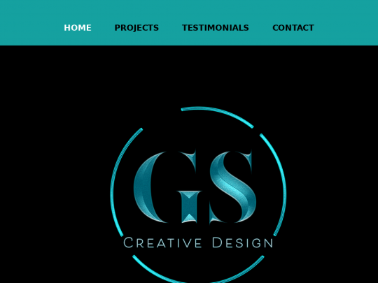 Tablet screenshot of www.gscreativedesign.co.uk