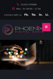 Mobile screenshot of www.phoenixdigital.media