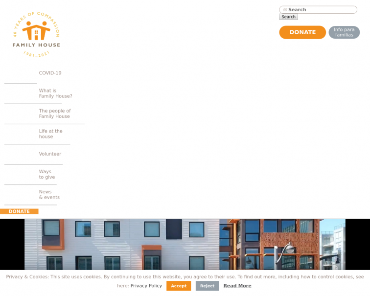 Screenshot of familyhouseinc.org