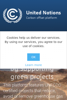Mobile screenshot of offset.climateneutralnow.org