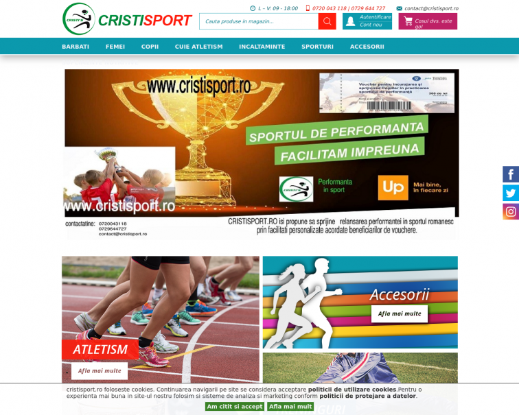 Screenshot of www.cristisport.ro