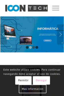 Mobile screenshot of www.icontech.es