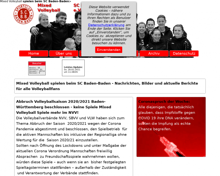 Screenshot of www.scbad.de