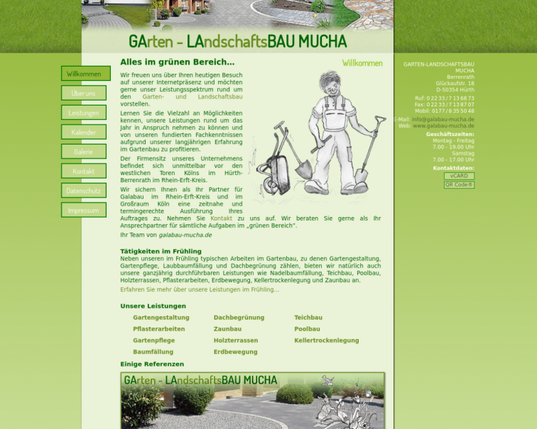 Screenshot of www.galabau-mucha.de