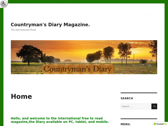 Tablet screenshot of countrymans-diary.co.uk