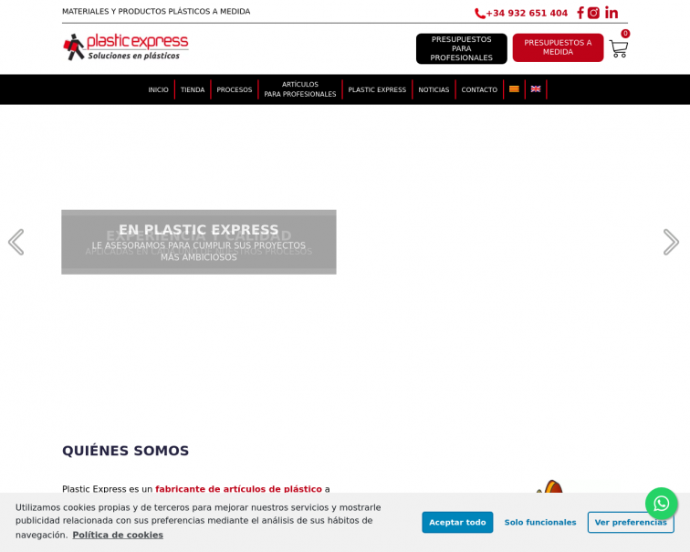 Screenshot of plasticexpress.es
