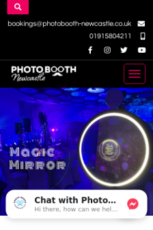 Mobile screenshot of photobooth-newcastle.co.uk