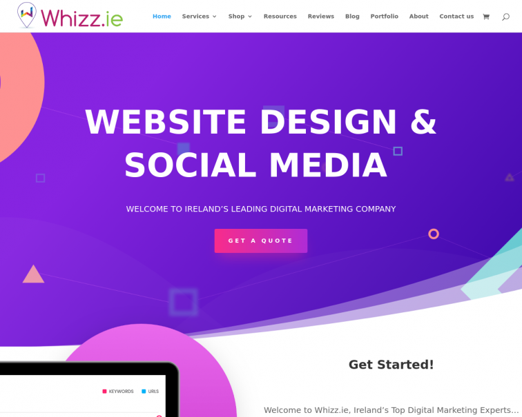 Screenshot of whizz.ie