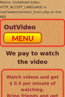 Mobile screenshot of outvideo.xyz