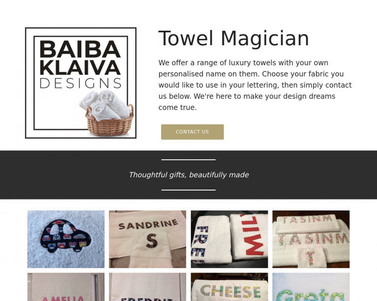 Screenshot of www.baibaklaivadesigns.co.uk