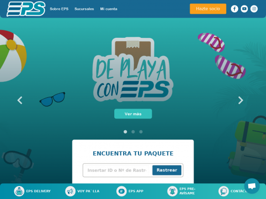 Tablet screenshot of www.eps.com.do