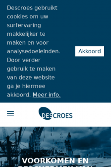 Mobile screenshot of www.descroes.be