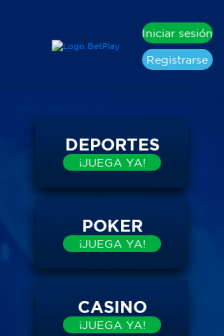 Mobile screenshot of betplay.com.co
