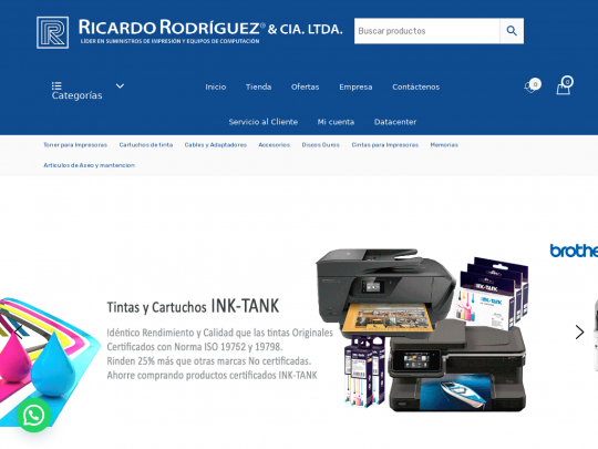 Tablet screenshot of www.ricardorodriguez.cl