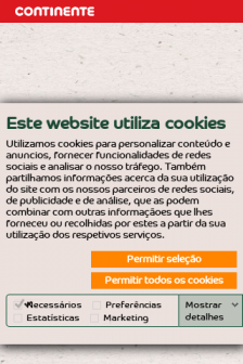Mobile screenshot of foodlab.continente.pt
