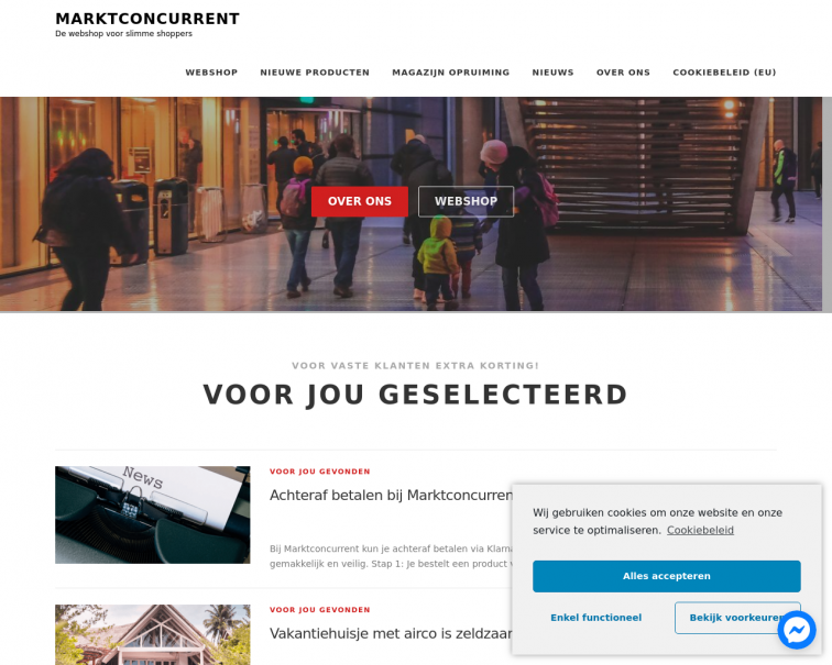 Screenshot of www.marktconcurrent.nl