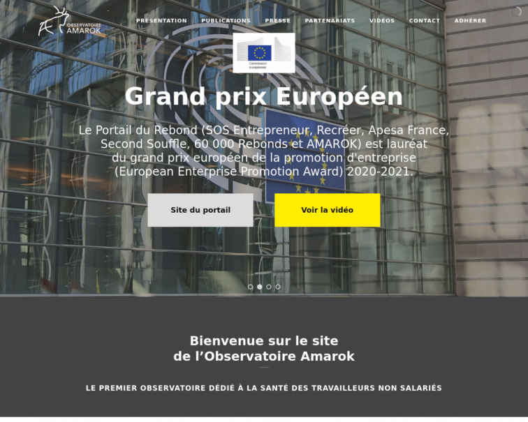 Screenshot of www.observatoire-amarok.net