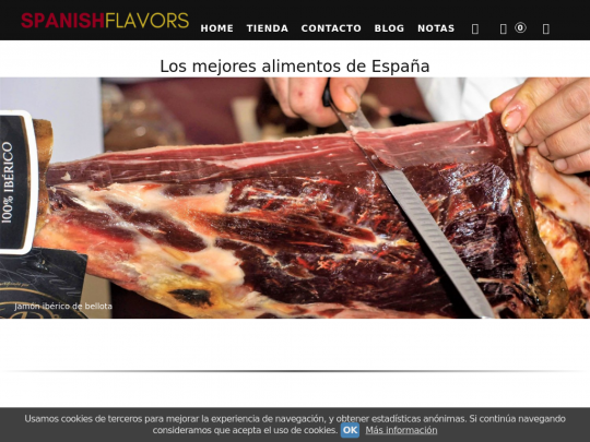 Tablet screenshot of www.spanishflavors.es