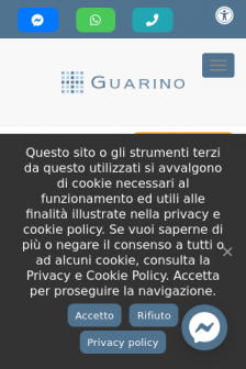 Mobile screenshot of www.guarinolab.it