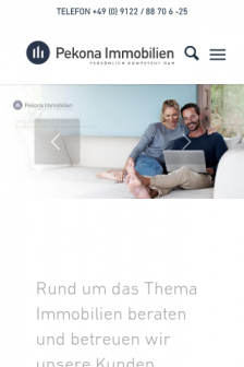 Mobile screenshot of www.pekona.de