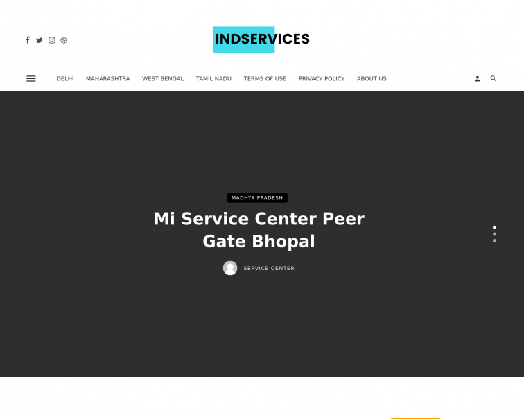 Screenshot of indservices.in
