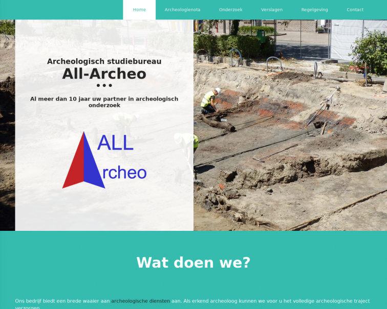 Screenshot of www.all-archeo.be