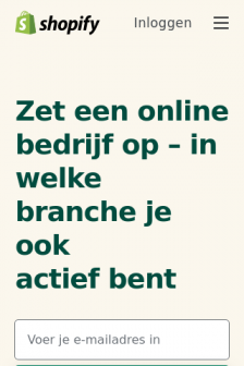Mobile screenshot of www.shopify.nl