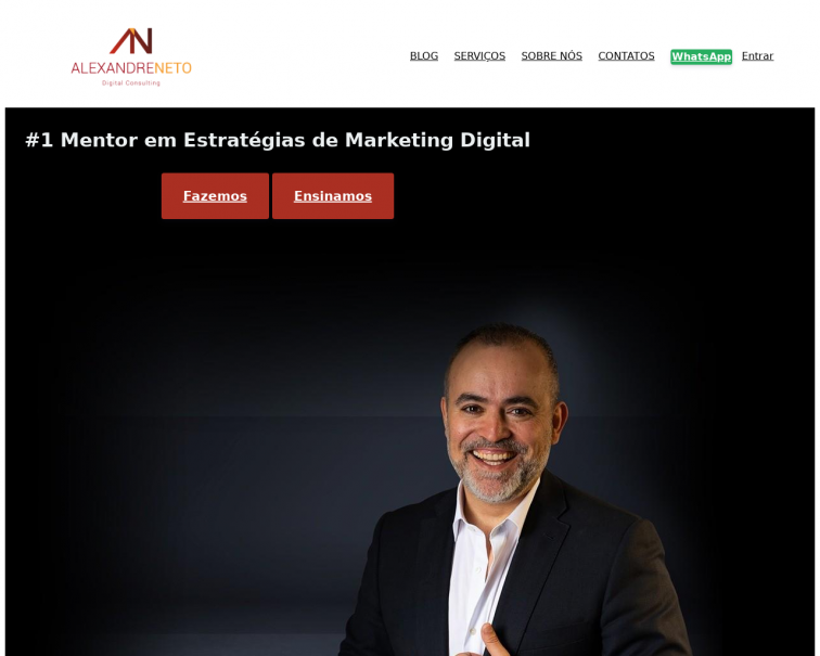 Screenshot of www.alexandreneto.pt
